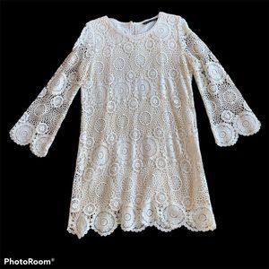 Crochet lined cotton dress from Zara